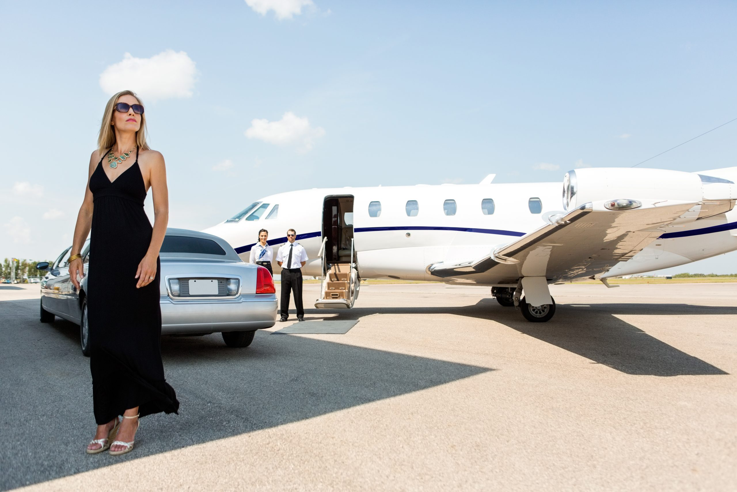 Rich Lady at Airport by 7 StarLimo